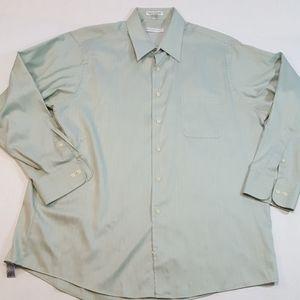 Geoffrey Beene button down shirt Mens As XL 17.5